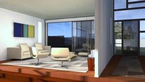 Architecture intérieure. Villa vue 3d
