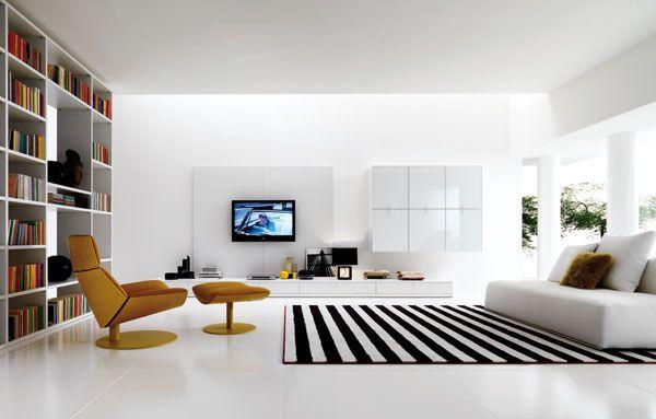Salon contemporain. Appartement paris.Architecte