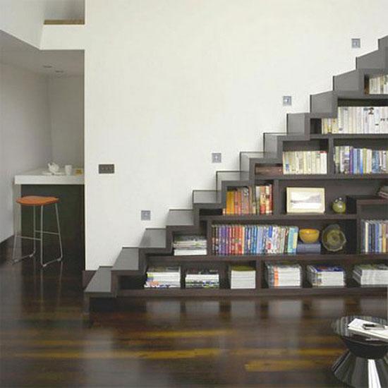 meuble bibliotheque escalier
