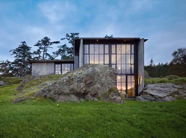 architecture maison type pierre. Plan de maison. Concept Architecte